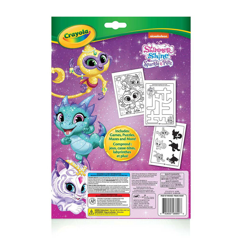 Crayola - Colouring & Activity Pad, Shimmer & Shine Sparkle Pets