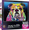 Masterpieces - EZ Grip - Dean Russo What Are You Looking At? Colorful Dog Jigsaw Puzzle 300  Piece