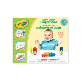 Crayola Easy-Clean Fingerpaint Set