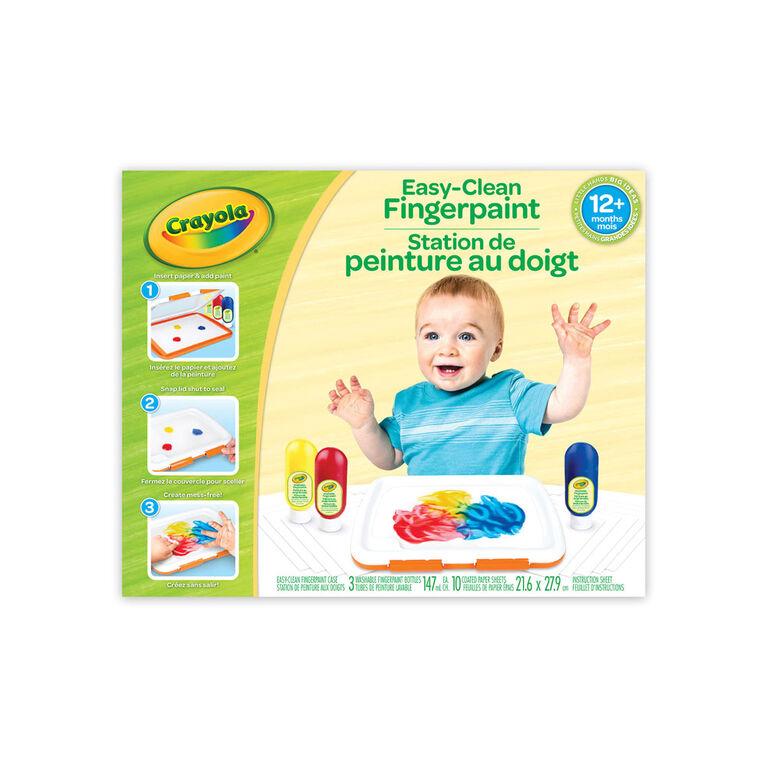 Crayola Easy-Clean Fingerpaint Set