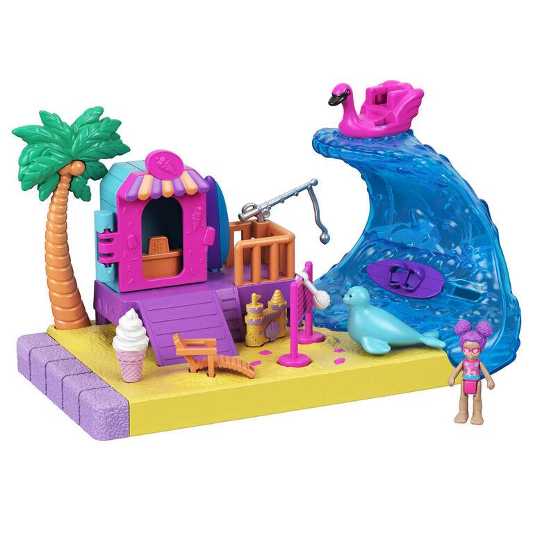 Polly Pocket Pollyville Sunshine Beach Playset