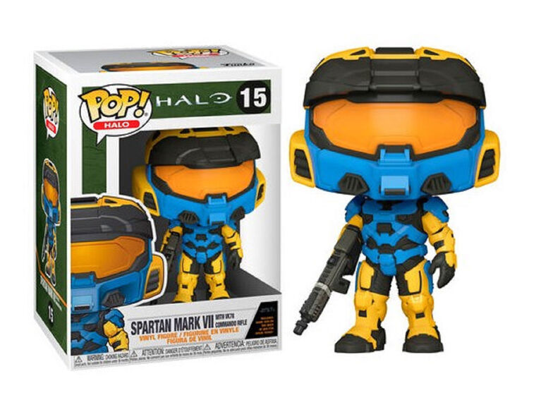 Funko POP! Games: Halo - Blue Spartan Mark VII with VK78 Commando Rifle