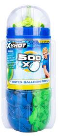 500 ballons d'eau X-Shot par ZURU - Les couleurs et les motifs peuvent varier