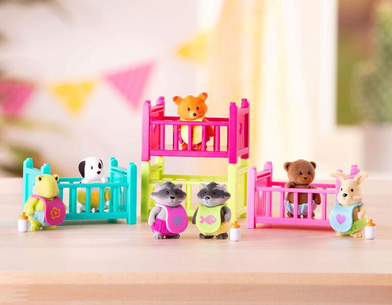 Assortiment S1 Woodzeez Babeez, Woodzeez, Ensemble de bébés animaux avec accessoires