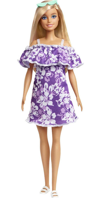 Barbie Loves the Ocean Beach-Themed Doll (11.5-inch Blonde), Made from Recycled Plastics