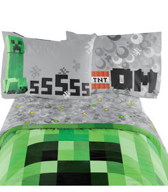 Minecraft Ensemble de draps pour lit 1 place
