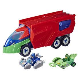 Les Pyjamasques camion Extra-Totem, jouet préscolaire avec 2 voitures, 2 figurines et autres - Édition anglaise