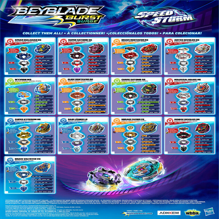 Beyblade Burst Surge Speedstorm Brave Roktavor R6 Spinning Top Single Pack