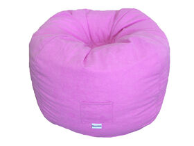 Boscoman - Faux Suede Bean Bag - Pink