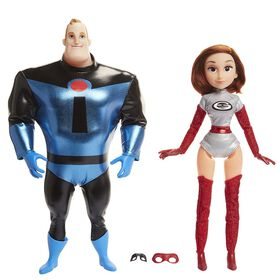 Incredibles 2 - Hey Day Action Dolls 2 pack Mr Incredible and Elastigirl - R Exclusive