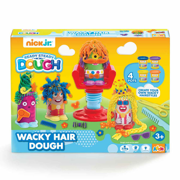Coffret de pâte à modeler Ready Steady Dough Wacky Hair Dough de Nick Jr - Édition anglaise