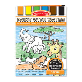 Melissa & Doug Paint With Water Activity Book - Safari 20 Pages