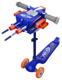 NERF 3-Wheel Blaster Scooter with Dual Trigger and Rapid Fire Action