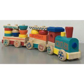 Imaginarium - Train à empiler en bois.
