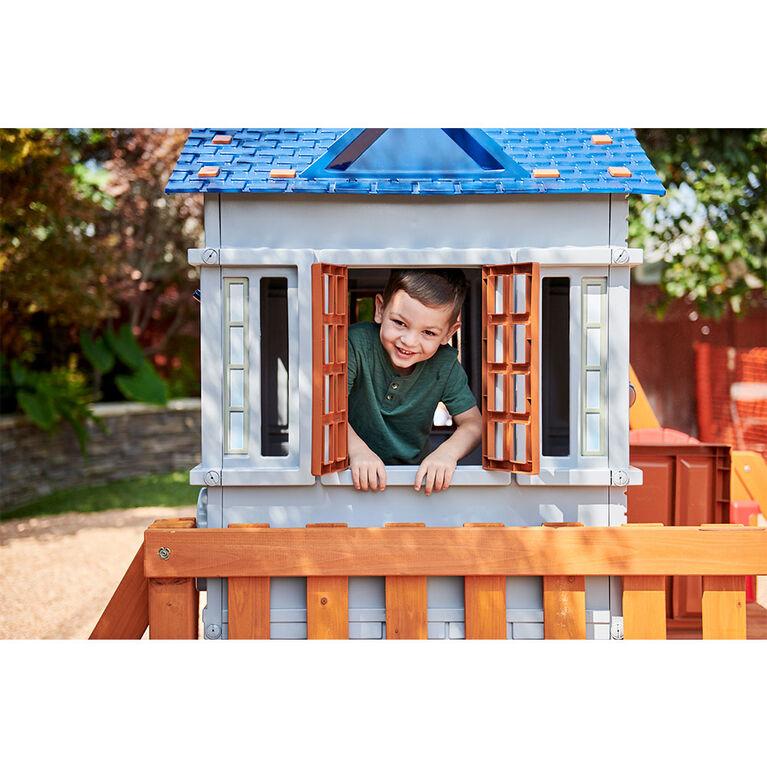 Portique de jardin Chipmunk Cottage Real Wood Adventures Little Tikes pour les enfants
