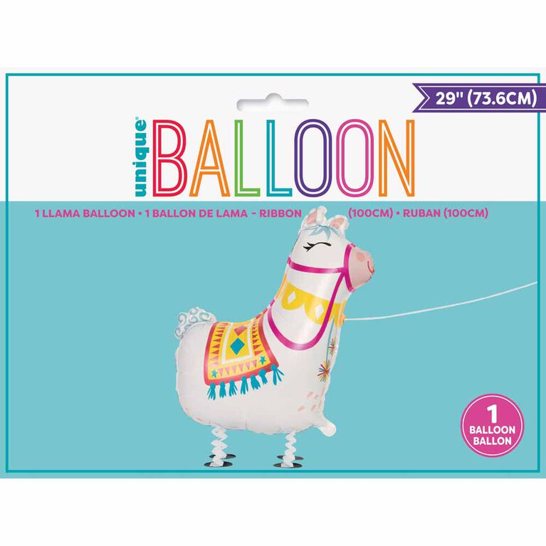 Ballons Metallises Lama Qui Marche