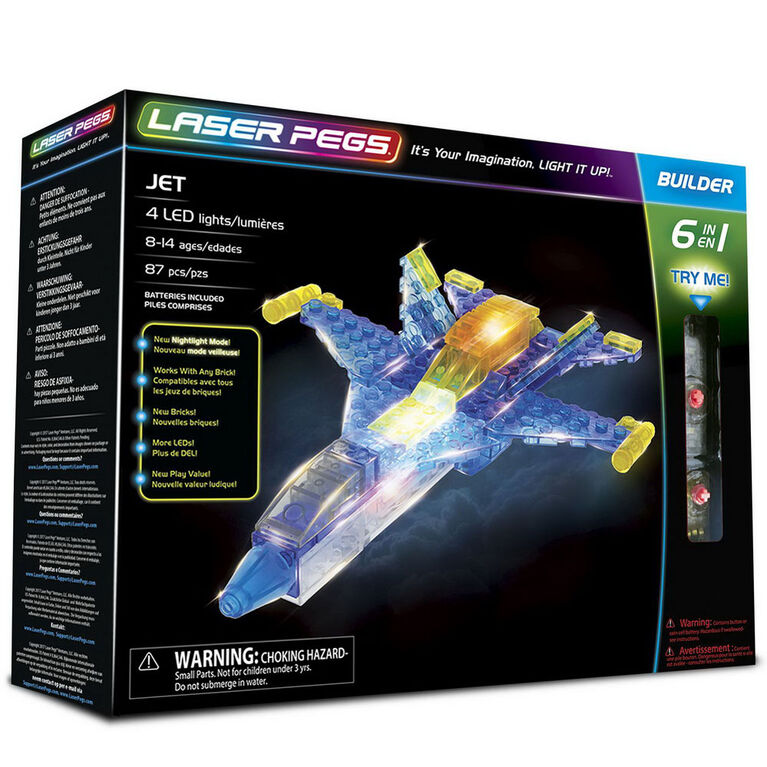Laser Pegs Jet 6-In-1   Building Set