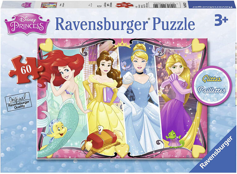 Ravensburger - Disney Princess - Heartsong Glitter Puzzle 60pc