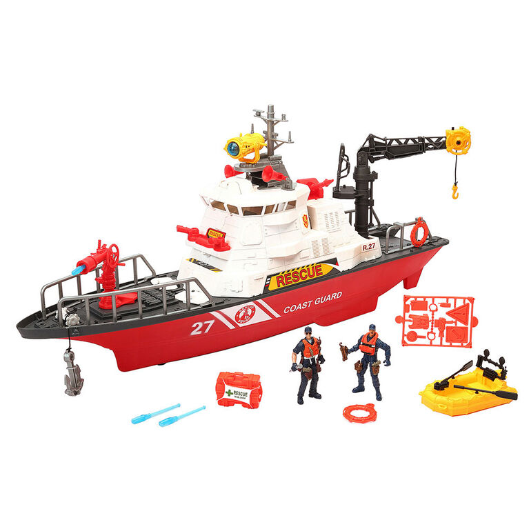 Rescue Force Mega Fire Boat Playset - R Exclusive