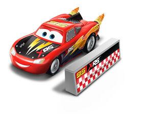 Disney/Pixar Cars XRS Rocket Racing Lightning McQueen with Blast Wall