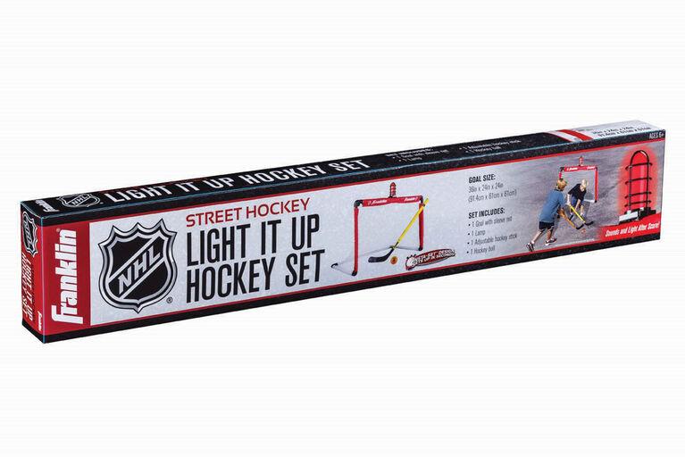 But de gardien de hockey de rue Light it Up Franklin Sports NHL