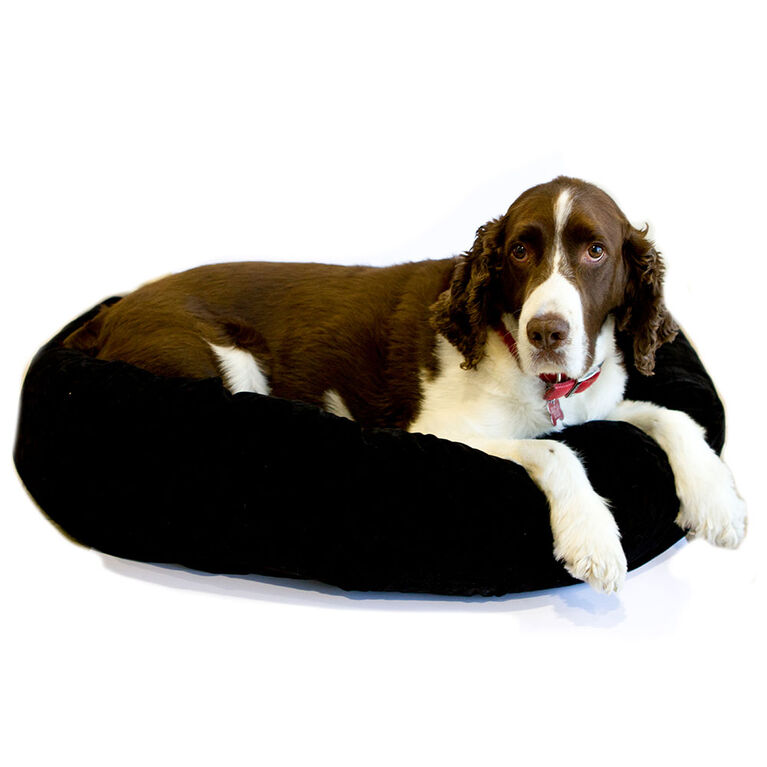 "Black 34X24X8"" Donut Bed"