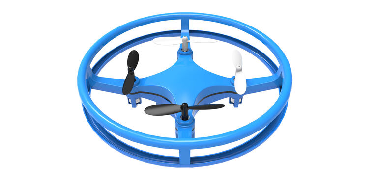 Mindscope Skylighter Disc Drone Blue