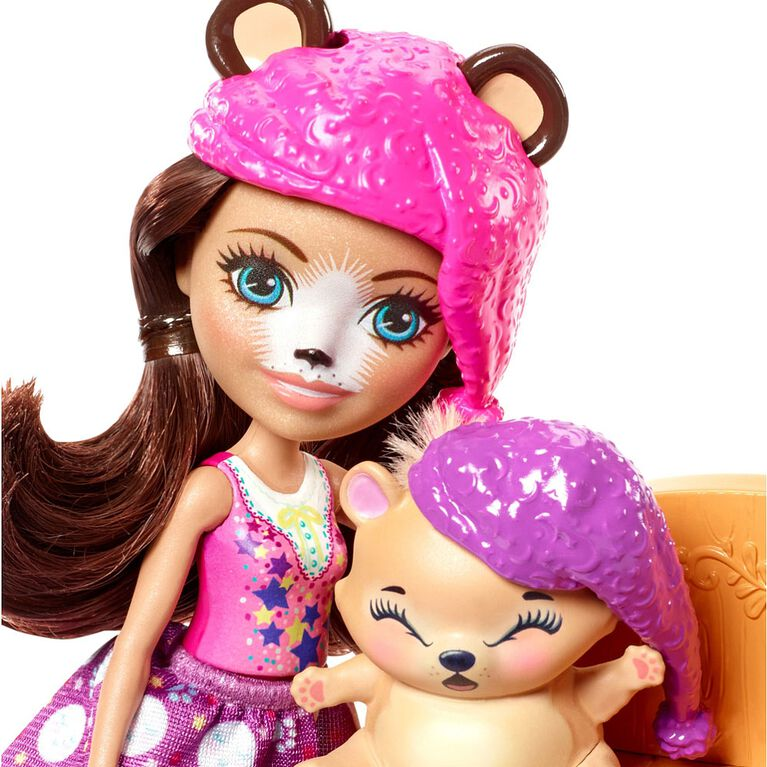 Enchantimals Dreamy Bedroom Playset with Bren Bear Doll & Snore Figure