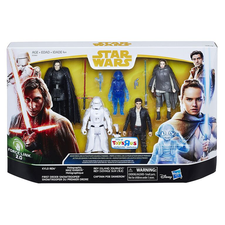 Star Wars Force Link 2.0 The Last Jedi Figure 5-Pack - R Exclusive