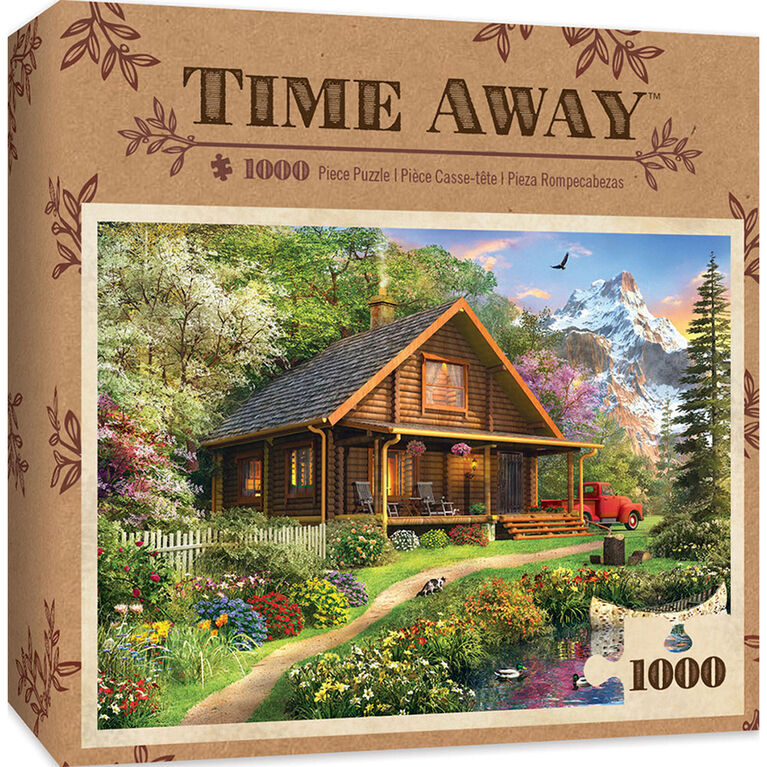 Masterpiece: Time Away Mountain Retreat - 1000 Piece Jigsaw Puzzle - English Edition