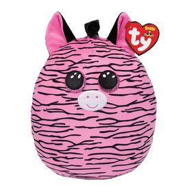 Ty Squish Zoey Pink And Black Striped Zebra 10 inch