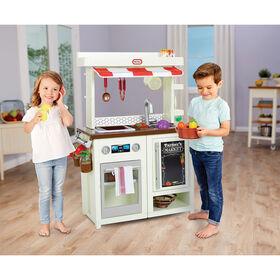 Cuisine-jouet First Market Kitchen Little Tikes avec plus de 20 accessoires - Notre exclusivité