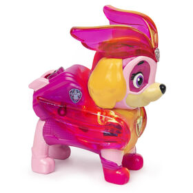 PAW Patrol, Mighty Pups Charged Up Skye Collectible Figure with Light Up Uniform