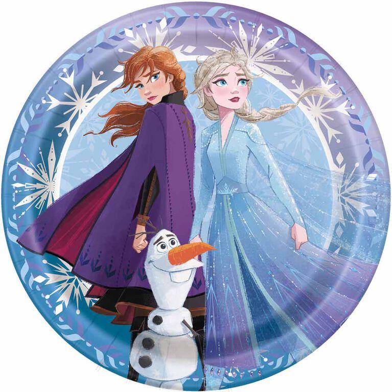 """Frozen 7""""  Plates, 8 pieces"""