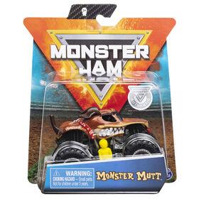 Monster Jam, Official Monster Mutt Monster Truck, Die-Cast Vehicle, Ruff Crowd Series, 1:64 Scale