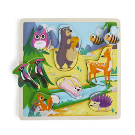 Imaginarium Discovery - Wooden Chunky Puzzle Assortment - Forest