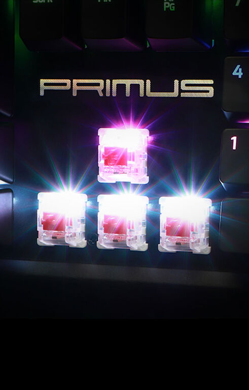 Primus Clavier Ballista 100T Rouge Silencieux