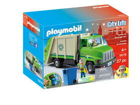 Playmobil - Camion de recyclage vert - les motifs peuvent varier