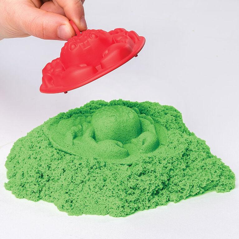 Kinetic Sand, coffret Bac à sable avec 454 g (1 lb) de sable Kinetic Sand vert