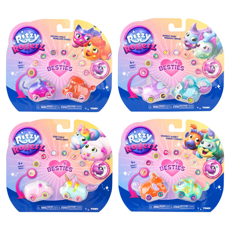 Ritzy Rollerz Toy Cars with Surprise Charms, Series 1 Ritzy Rollerz