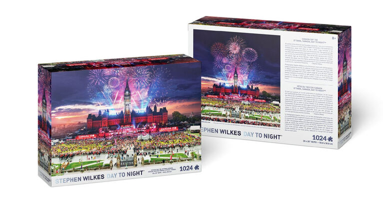 Stephen Wilkes Day to Night - Canada Day Celebration 1024 piece puzzle