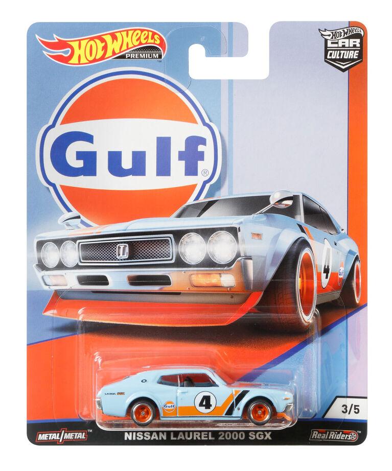 2019 Hot Wheels Car Culture Gulf Racing 3//5 NISSAN LAUREL 2000 GSX w//Orange RRSP