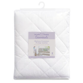 Koala Baby - Quilted Waterproof Mattress Protector 2 Pk - White