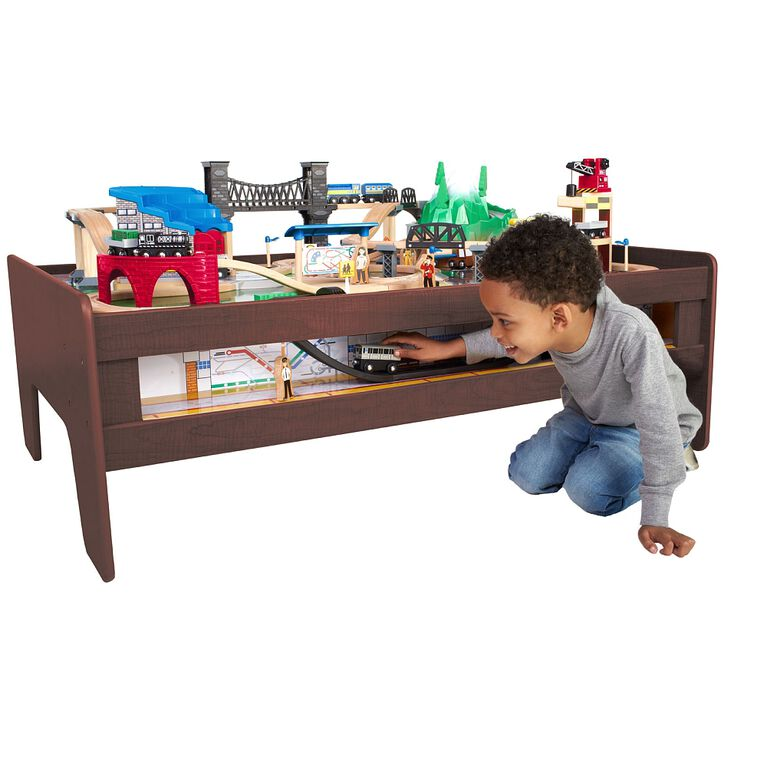 Imaginarium Metro Line 100 Piece Train Table - Espresso