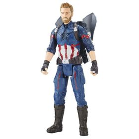 Marvel Avengers: Infinity War Titan Hero Power FX Captain America  - French Edition