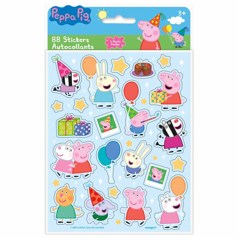 Peppa Pig Sticker Sheets, 4 pieces