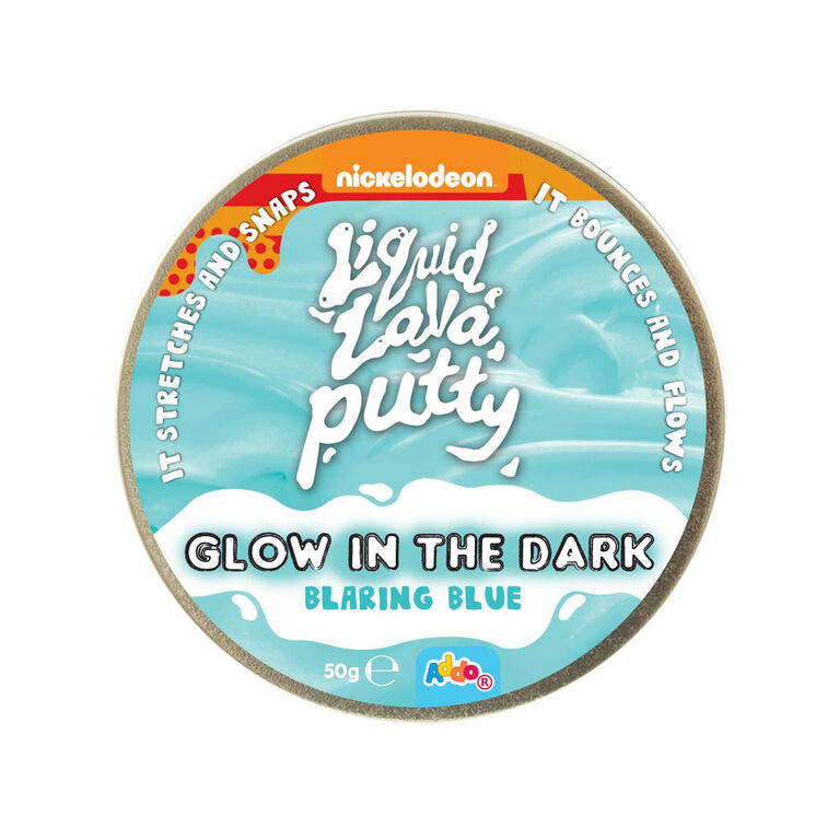Nickelodeon - Pâte Liquid Lava Putty Glow In The Dark - Blaring Blue (bleu)