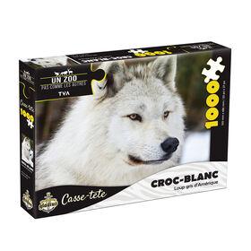 Puzzle Un zoo pas comme les autres - Croc Blanc - 1000 pcs - French Edition