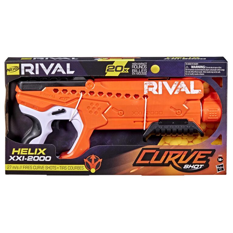 Nerf Rival Curve Shot, blaster Helix XXI-2000, tirs droits ou incurvés (gauche, droite, vers le bas) - Notre exclusivité