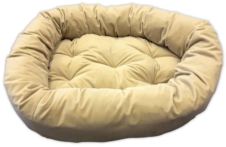 """Beige 34X24X8"""" Donut Bed"""